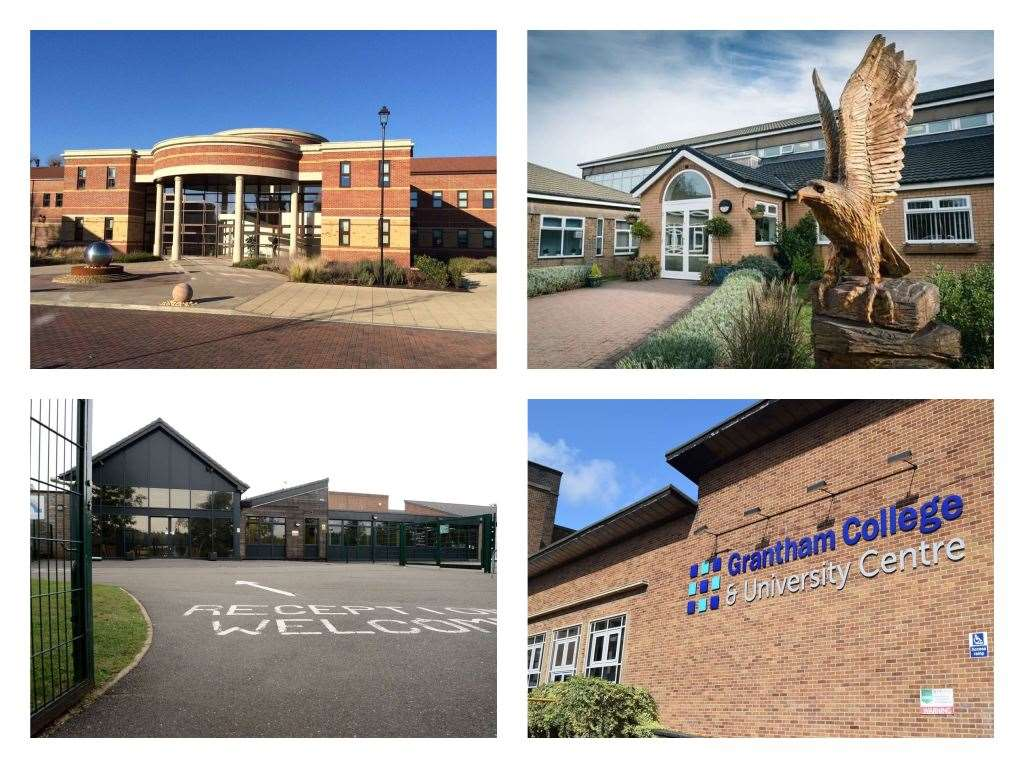 Grantham College, Bluecoat Meres Academy, Walton Academy and Priory Ruskin Academy. (31900963)