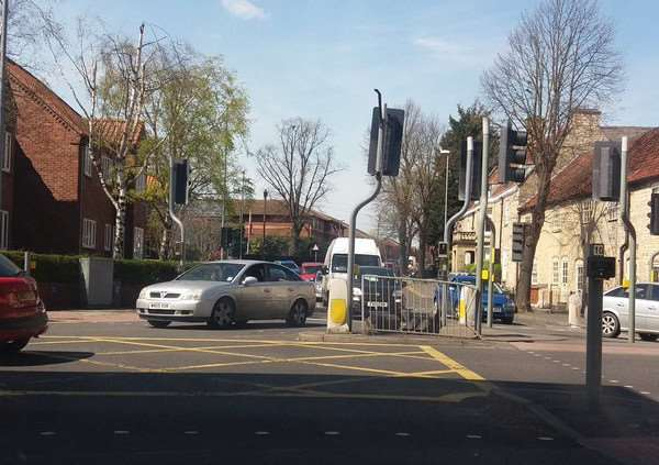 A traffic light was knocked down at the Brook Street and Swinegate junction.