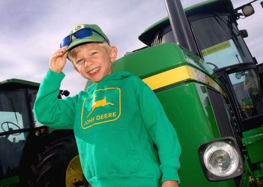 Five-year-old tractor fan Daniel Williams came dressed for the occasion EMN-160925-114043001