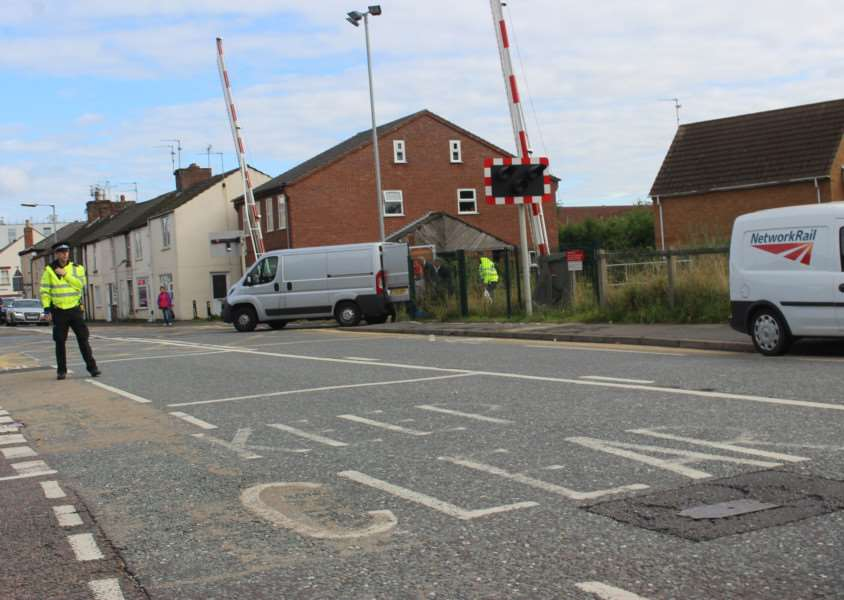The scene near to where a woman's body was found in Spalding on Saturday morning. Photo by Malcolm Pepper.