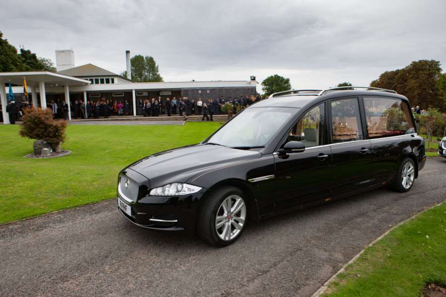 The Funeral of SGT Ray Johnson, Ray was a WWII Veteran with only 3 surviving family members. Ray Died the day before his 96th Birthday on 3rd September 2016. 'Picture by Terry Harris. THA