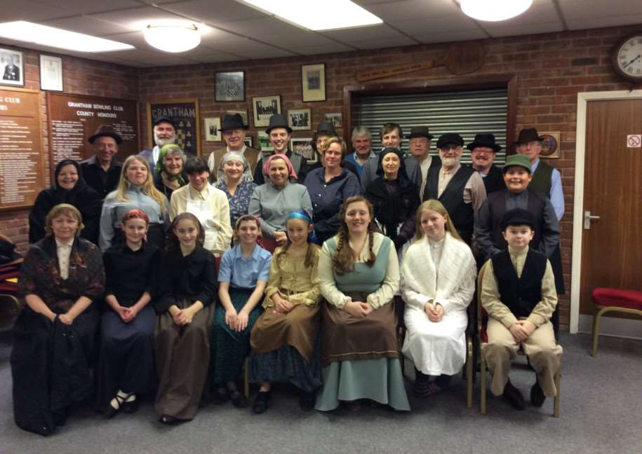 The Grantham Operatic Society cast of Fiddler on the Roof