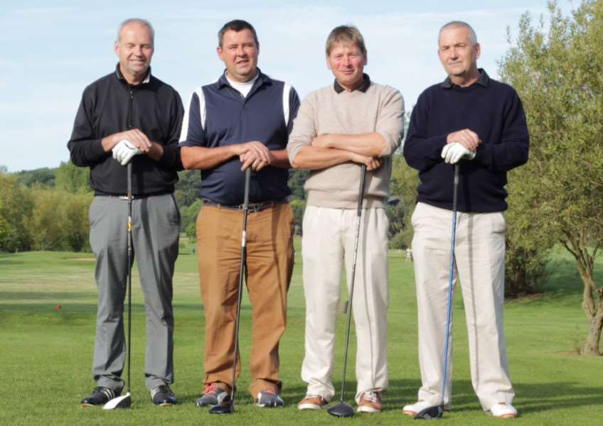 The winning team of the annual Belton Woods Allan Wright Memorial Am-Am Trophy competition. Photo: Joe Stapleton