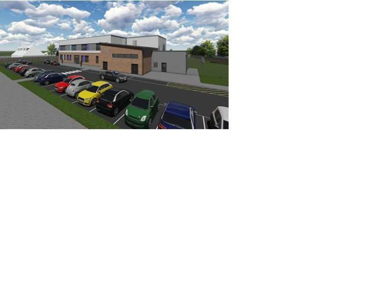 An artist's impression of the planned Springwell Academy Grantham on New Beacon Road.