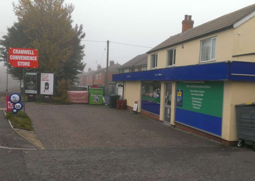 Scene of the robbery. Cranwell Convenience Store. EMN-150311-085405001