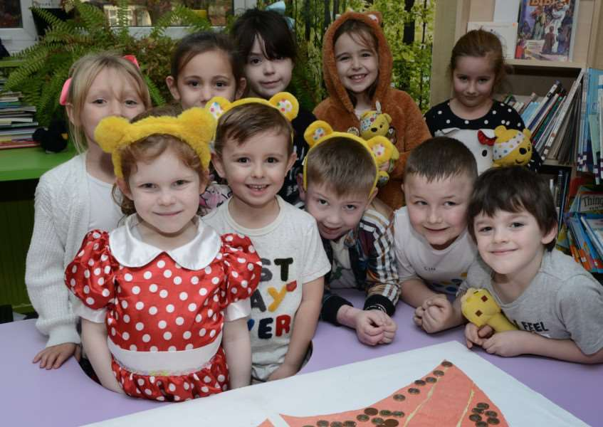 Children at Little Gonerby School enjoyed a non uniform day and dressed up in Pudsey ears.