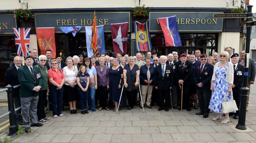 Veterans meet for the Breakfast Club at The Tollemache Inn in Grantham on Armed Forces Day.