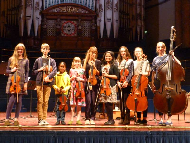 Six musicians from Grantham and Lincoln were invited to perform as part of Nicola Benedetti's Italy and the Four Seasons Tour at Leeds Town Hall.