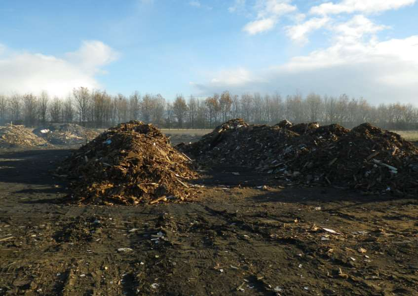 The illegal waste site at Long Bennington which has been shut down.