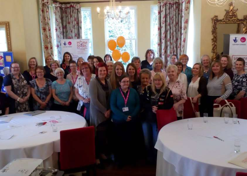 Home-Start volunteers in Lincolnshire were praised at a recent gathering.