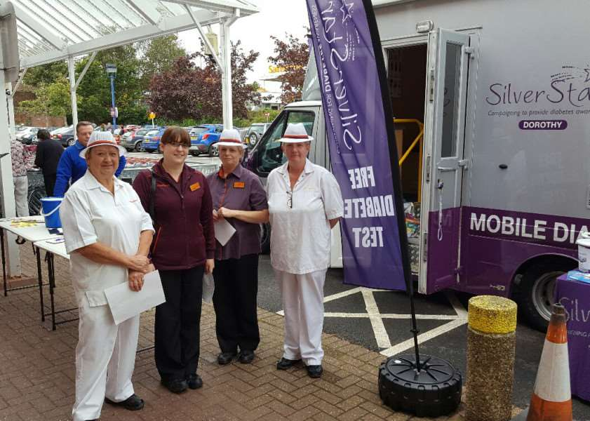 Grantham Lions Club once again brought the Silverstar Diabetes van in to Grantham on Saturday 1st October at Sainsbury's.