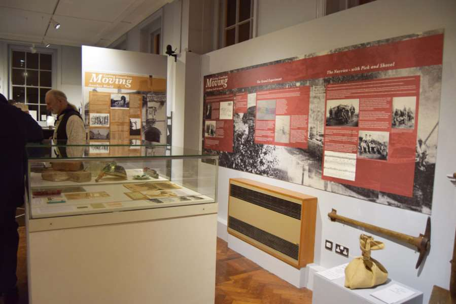 The new Getting Grantham Moving exhibition at Grantham Museum.
