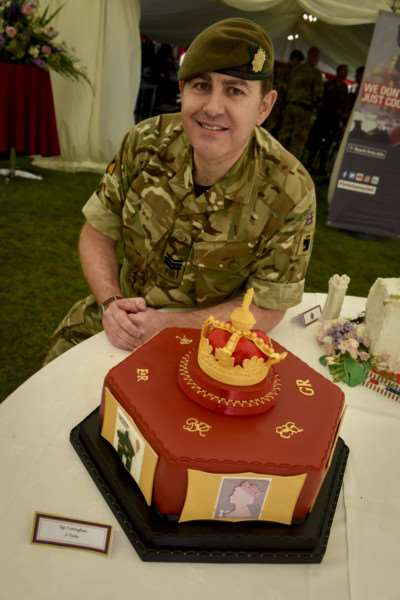The 'Royal Themed' Celebration Cake was won by Sergeant Mik Cottingham for his Royal Mail themed cake at the Field Catering and Culinary Arts Competition in Grantham.