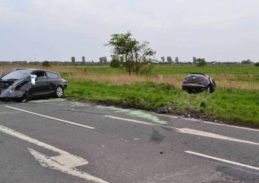 A photograph of one of the many serious incidents recorded on Lincolnshire's roads this year, supplied by the Lincolnshire Road Safety Partnership. PQWEa7MO0Xui1-45uZ2Z