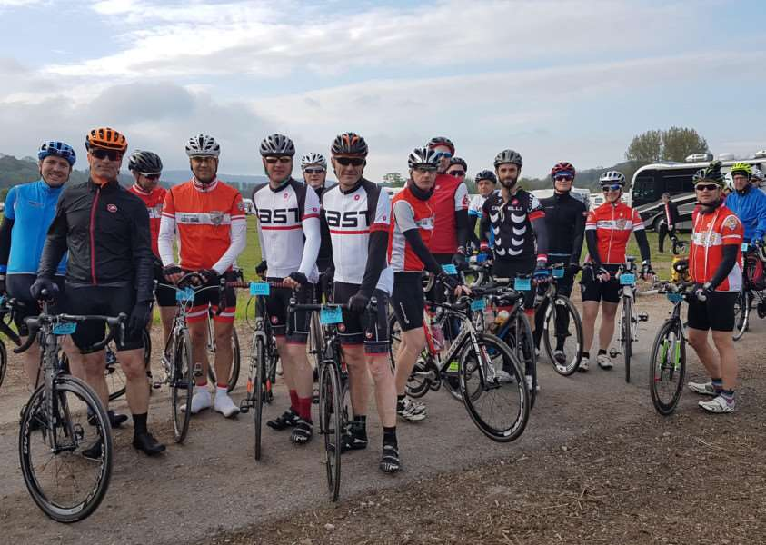 Grantham riders take part in the Tour of the Peaks ahead of their London to Paris charity ride.