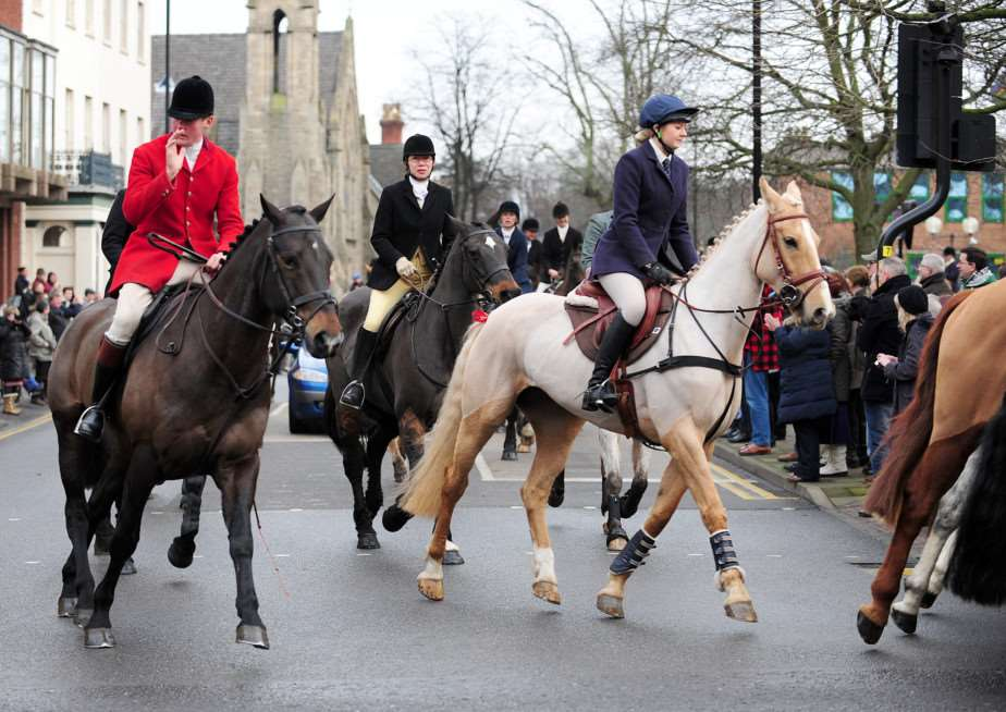 The Belvoir Hunt meet on Boxing Day in Grantham. Photo: TRP-26-12-2014-223A (36)