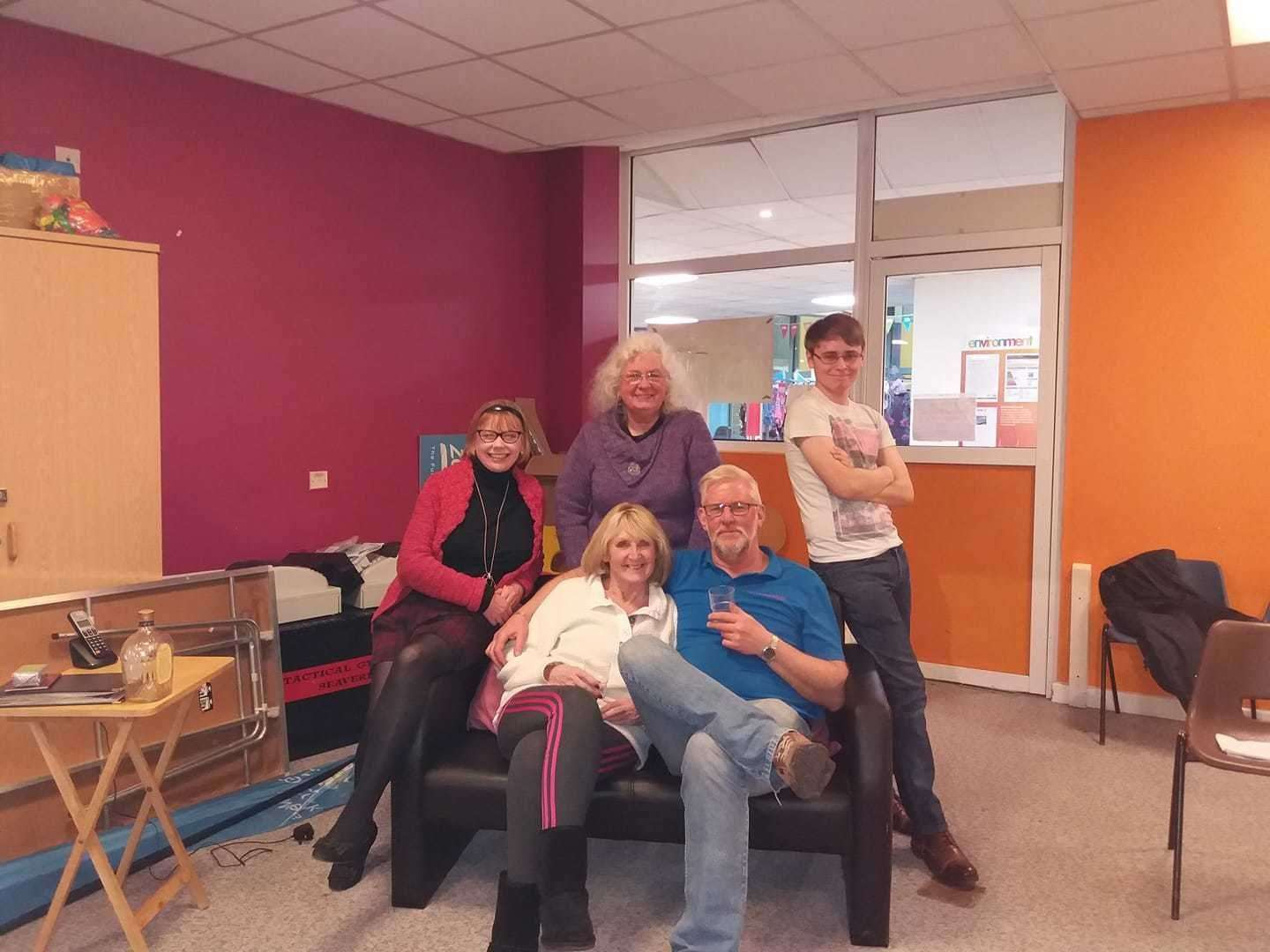 The cast of 'Wind of Change' – Tracey Dene Powell, Rosemary Gibson, Anthea Hardstaff, Gus Sparrow and Philip Wilson. (8965721)
