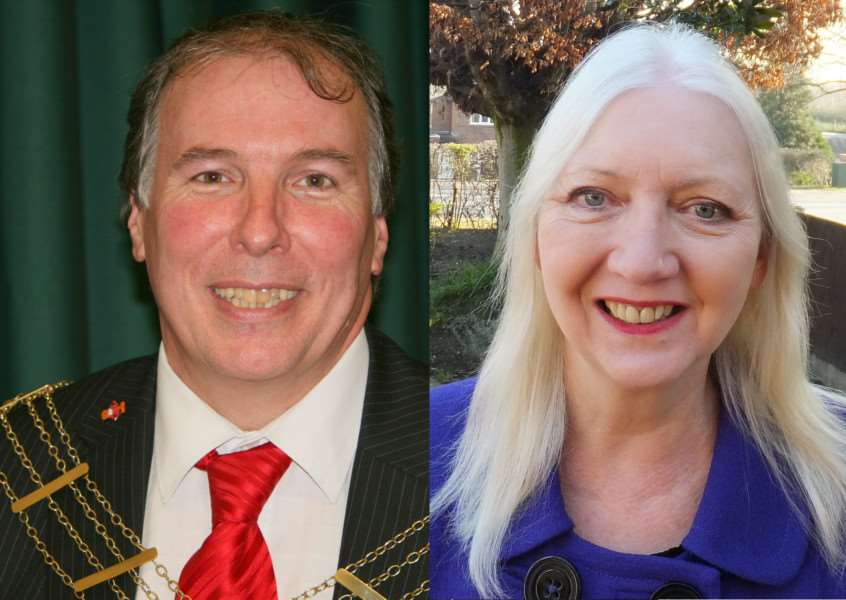 Councillors Ian Selby and Linda Wootten