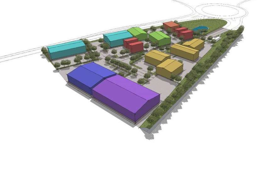 Proposed Enterprise Village for Grantham's KiNG31 site.