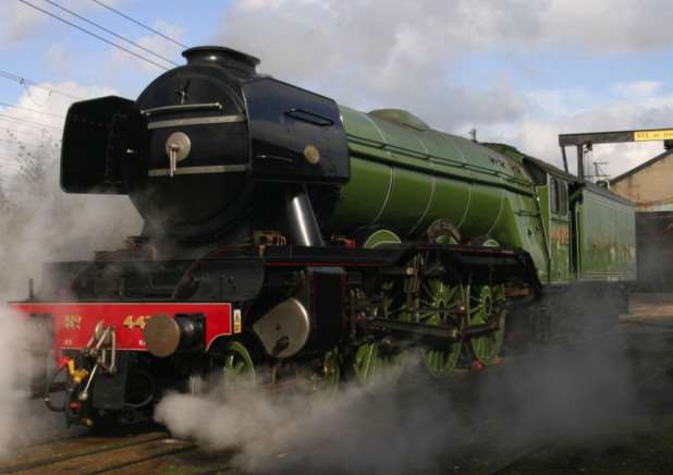 The Flying Scotsman in steam