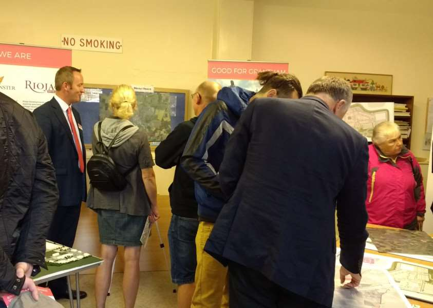 Members of the public were able to see the plans for the proposed Grantham designer outlet village at an event in ChristChurch, Finkin Street.