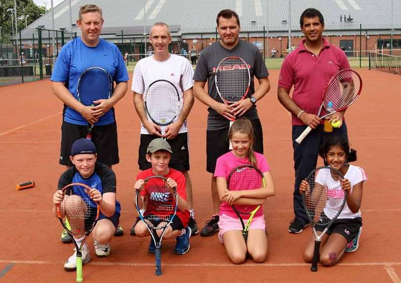 Grantham Tennis Club Parent and Child competition players.