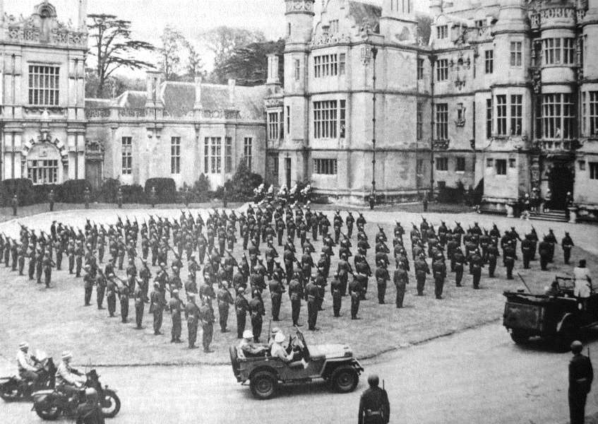 Filming of 'Patton' at Harlaxton Manor