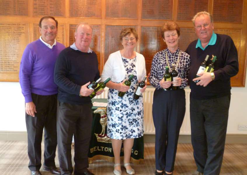 Winners of the Ladies' and Seniors' Am-Am at Belton Park.