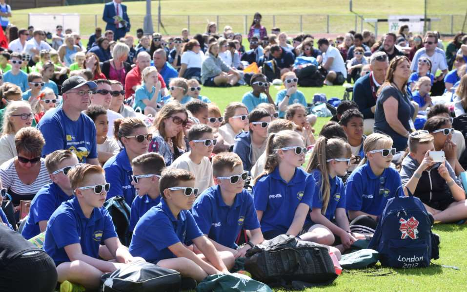 Pupils enjoy the Summer Cup in the sun. Photo: TRP-30-6-2016-890A (12)+