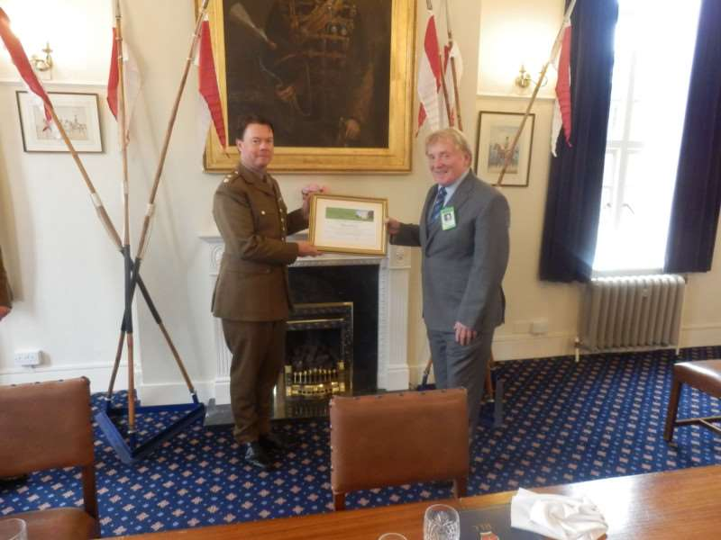The Tenth Annual Tom Childs Award was presented to Richard Bush of''Londonthorpe at a ceremony at the Prince William of Gloucester Barracks Officers Mess.
