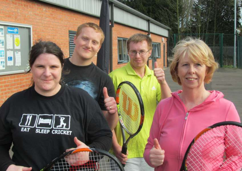 Grantham Tennis Club Feel Good sessions.