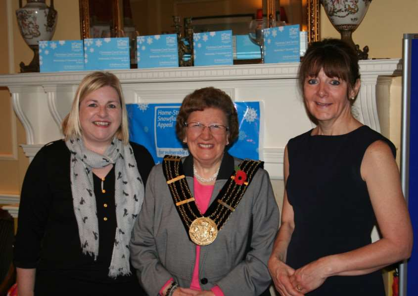 The Mayor of Grantham Jacky Smith was among those at the appeal launch.