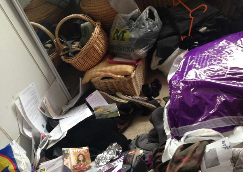 Burglars trashed the house after they broke in at Kingscliffe Road in Grantham.