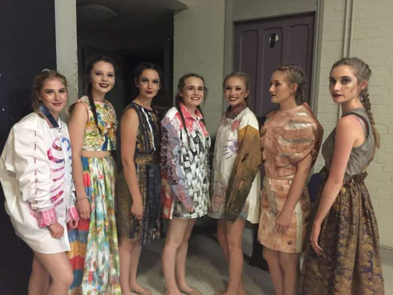 Walton girls made an impression at the schools' fashion show in Lincoln.