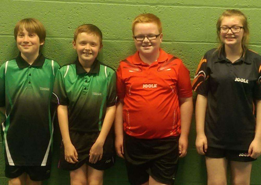 Pictured are Flynn Connolly Josh Kettle Frazer Winfield and Alexandra Robinson.