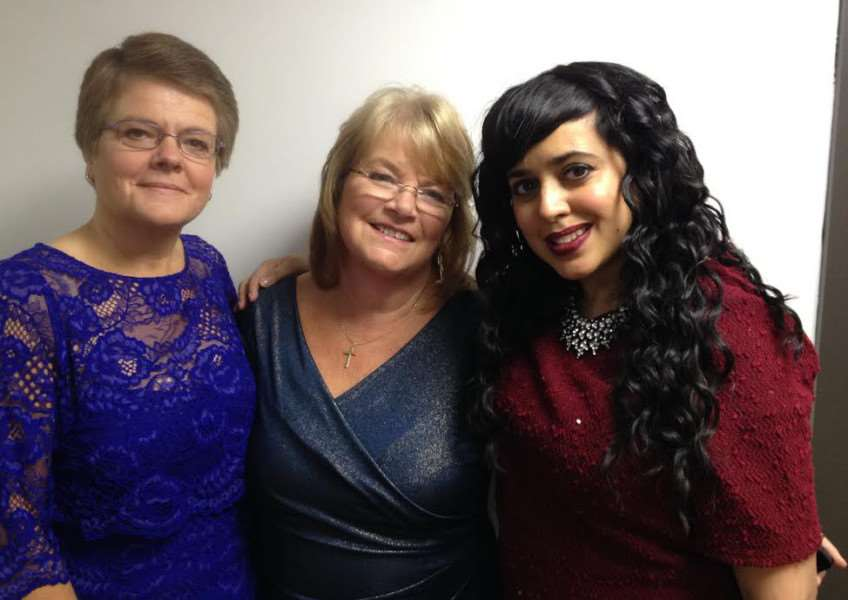 Sue with finalists Pat Rogers, who won the award, and Parmi Dheensa