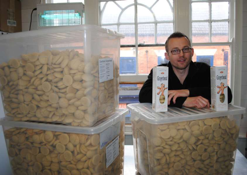 Alastair Hawken with some samples of his Grantham Gingerbread. Photo: 065A ENGEMN00120131203120603
