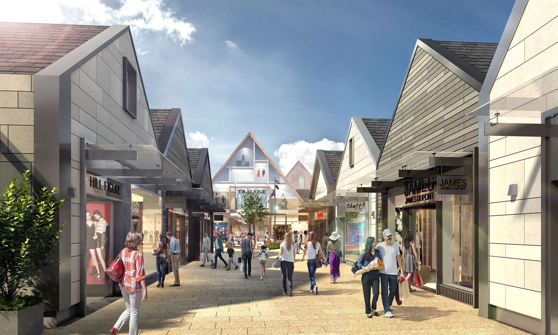A visual of the £100 million Rioja designer outlet village to be built in Grantham. (20622693)