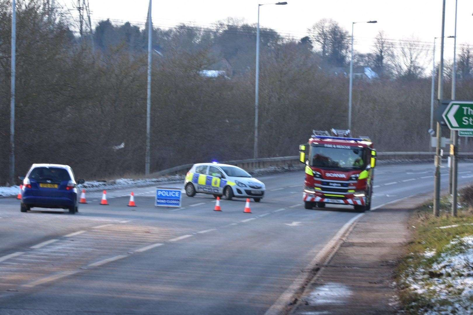 Two lorries have been involved in a crash on the A52 near Grantham. Photo: R.Mortiss. (44399337)