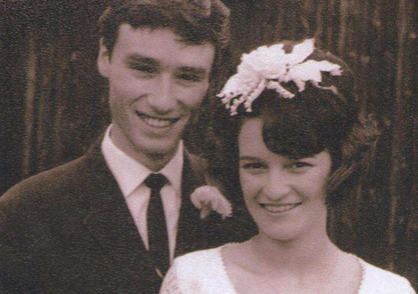 Trevor and Carole Leeson on their wedding day.
