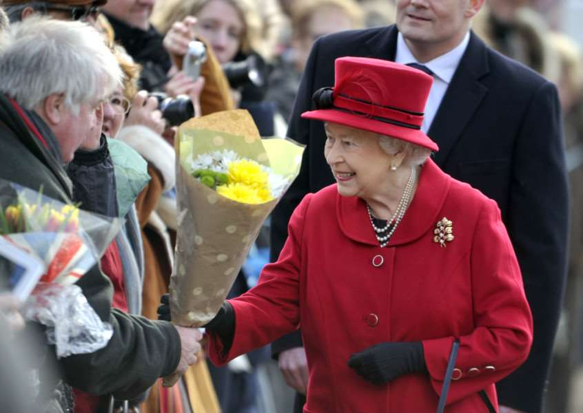 The Queen, who will be celebrating her 90th birthday in April, during a walk-about. 'Photo: Adam Fairbrother