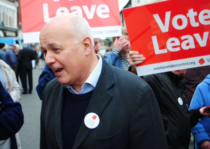 Iain Duncan Smith found plenty of Vote Leave supporters in Grantham.