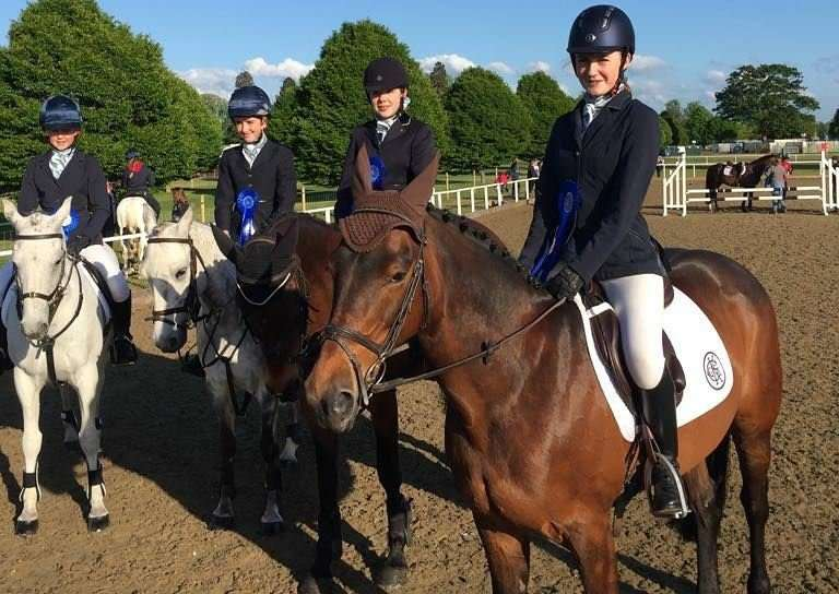 KGGS equestrian team at Royal Windsor.