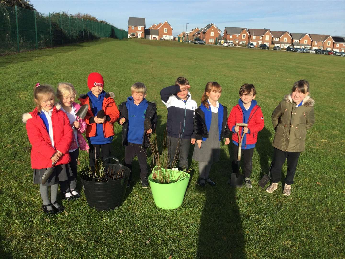 Pupils at Poplar Farm have been planting trees for Woodland Trust.(43155851)