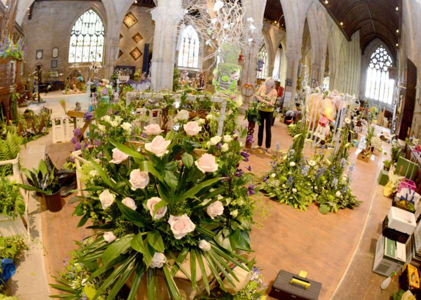 St Wulfram's Church flower festival