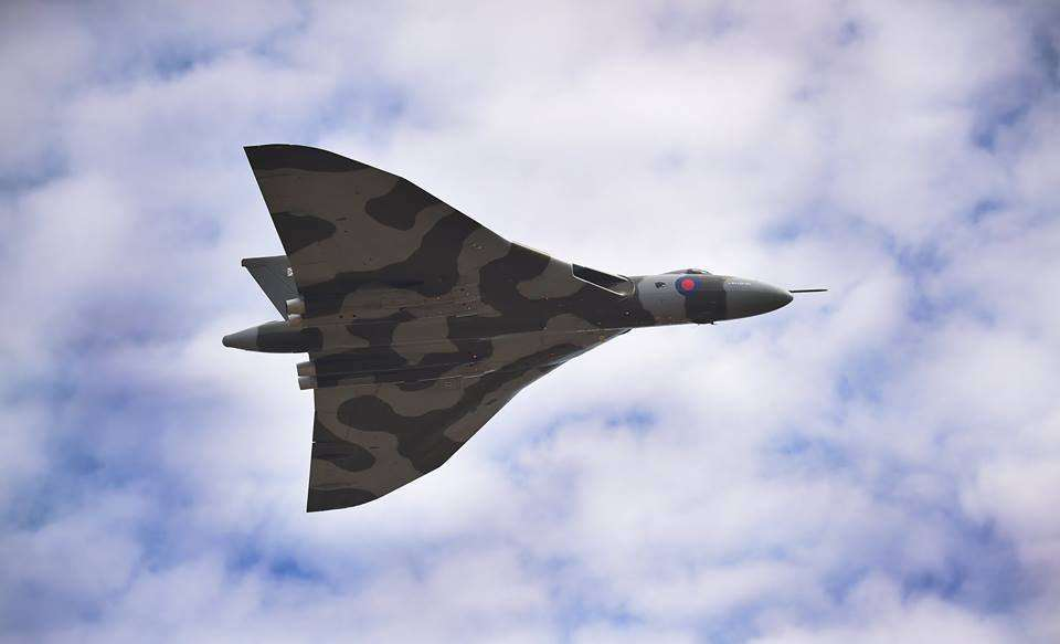 Many were in awe of the Vulcan as it soared over Grantham and all across the UK this year. Photo by Toby Roberts.