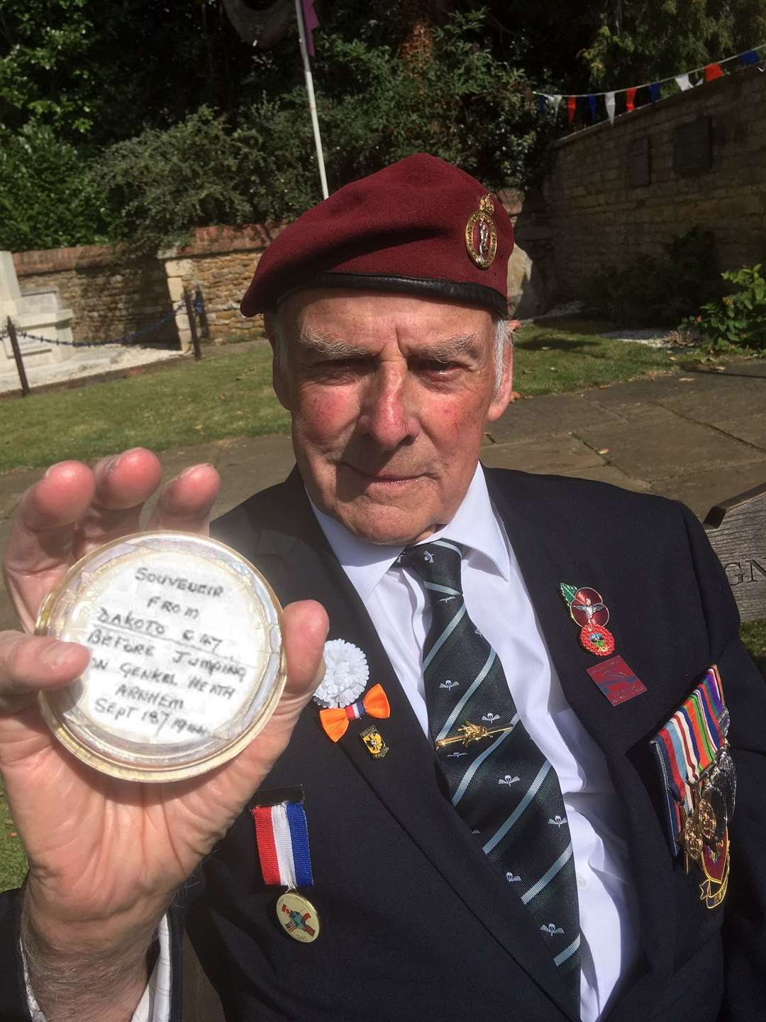 Larry 'Lol' Martin made his annual visit to the Arnhem commemorations in Caythorpe village in September. (27210872)