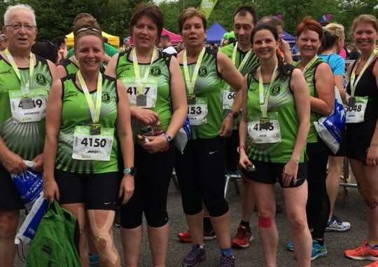 Grantham Running Club members at the Nottingham 10k.