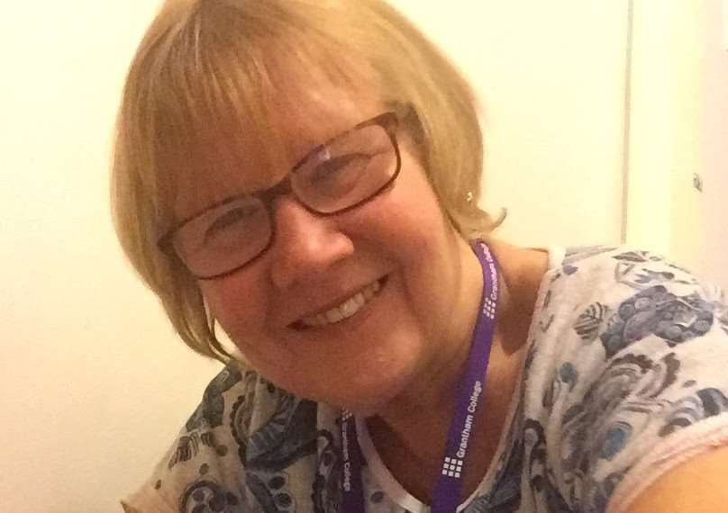 Pauline Bacon, a sign language tutor who has worked 25 years at Grantham College EMN-161209-121117001
