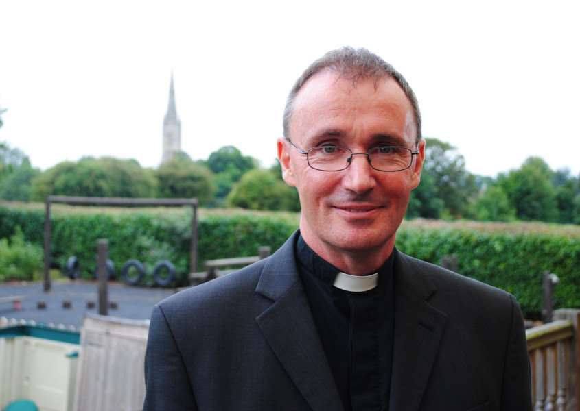 The Rt Rev Dr Nicholas Chamberlain pictured on the day he was unveiled as the new Bishop of Grantham.
